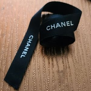 Chanel Ribbon 5 feet Black and White
